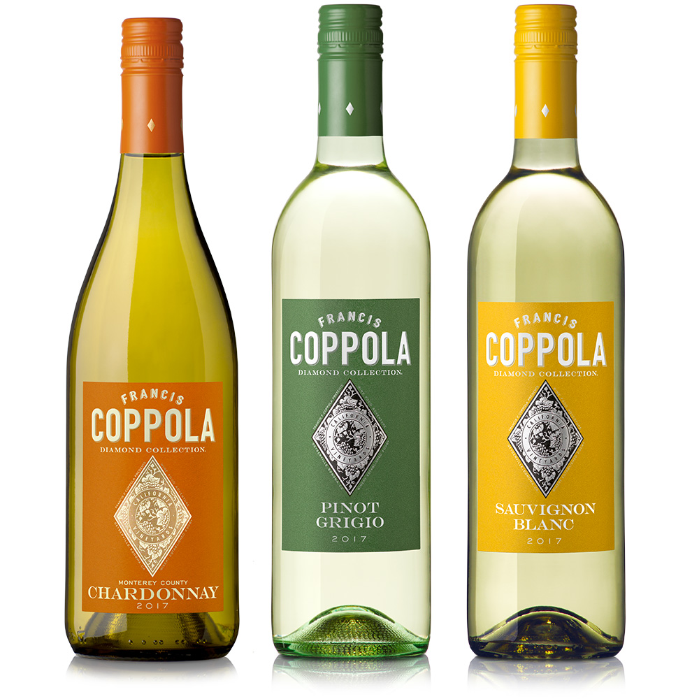 Diamond White Wine bottle collection