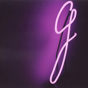 The letter G in Neon
